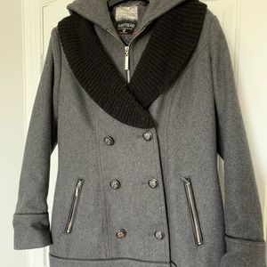 Kenzie Double Breasted Hooded Peacoat